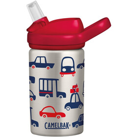 CamelBak eddy+ Kids Single Wall Borraccia inossidabile 400ml Bambino, cars & trucks